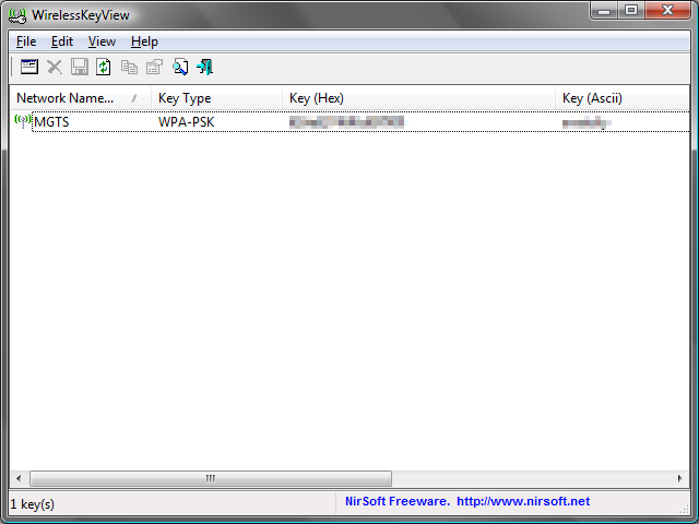 WirelessKeyView - восстанавливаем потерянный ключ от Wi-Fi
